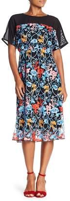 Eva Franco Ava Floral Embroidered Midi Dress