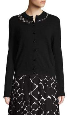 Marc Jacobs Wool Blend Embellished Cardigan
