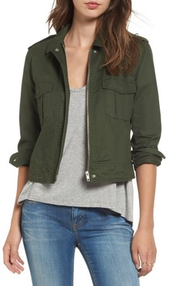 Women's Bb Dakota Maddox Cotton Twill Army Jacket $96 thestylecure.com