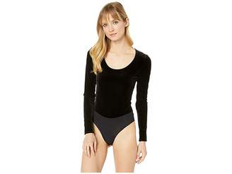 Commando Velvet Long Sleeve Bodysuit BDS023