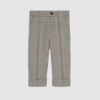 Gucci Children's retro check wool pant