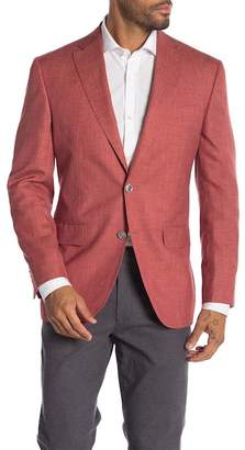 Jack Victor Conway Red Sharkskin Two Button Notch Lapel Sport Coat