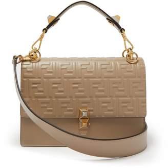 Fendi Kan I logo-embossed leather shoulder bag
