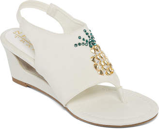 NEW YORK TRANSIT New York Transit Fancy Fruit Womens Wedge Sandals