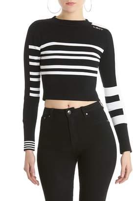 Anthony Logistics For Men La La Striped Cropped Sweatshirt