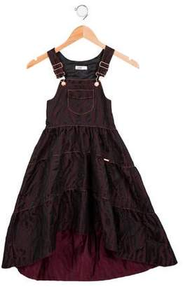 Junior Gaultier Girls' Metallic-Accented Patterned Dress w/ Tags