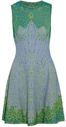 M Missoni Fluted Metallic Jacquard-Knit Mini Dress