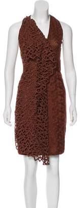 Akris Embroidered Shift Dress