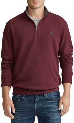 Polo Ralph Lauren Half-Zip Cotton-Blend Pullover Sweater