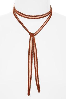 Chan Luu Chiffon Tie Necklace $45 thestylecure.com