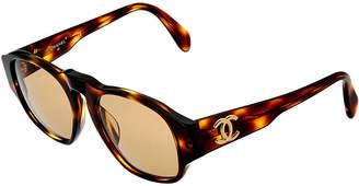 Chanel Tortoise Acrylic Cc Sunglasses
