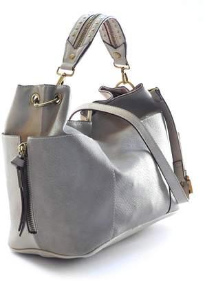 Steve Madden Women's Marla Shoulder Bag, Grey/Bone