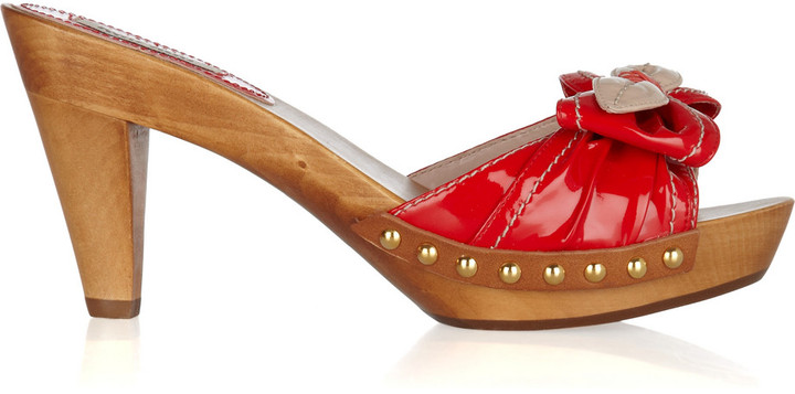 Miu Miu Patent-leather clog sandals