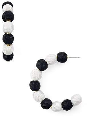 Aqua Ball Hoop Earrings - 100% Exclusive