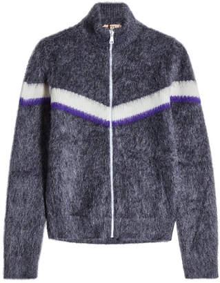 N°21 N21 Zipped Cardigan in Mohair and Wool