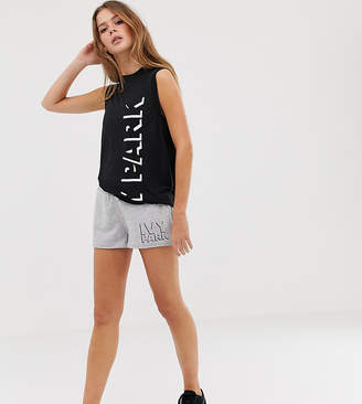 Ivy Park logo shorts in grey