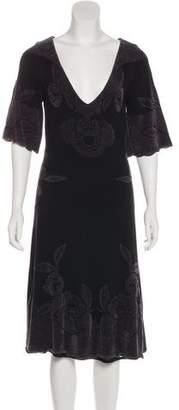 Temperley London Textured Midi Dress