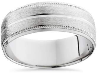 Palladium Pompeii3 Men's 8mm Satin Wedding Band Bands Mens Rings