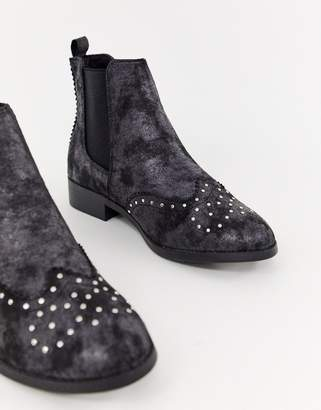 New Look Studded Flat Brogue Boot