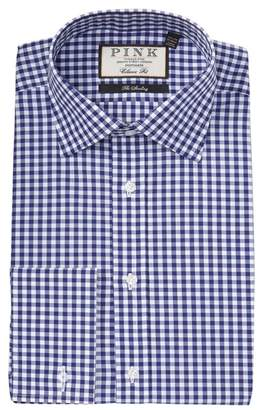 Thomas Pink Summers Gingham Print Classic Fit Dress Shirt