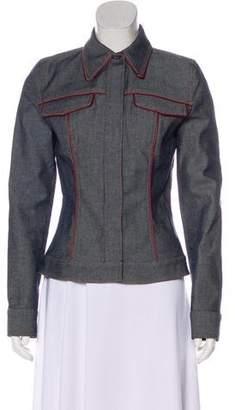 Dolce & Gabbana Pinstriped Denim Jacket