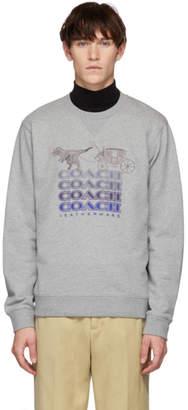 Coach 1941 Grey Shadow Rexy and Carriage Sweatshirt