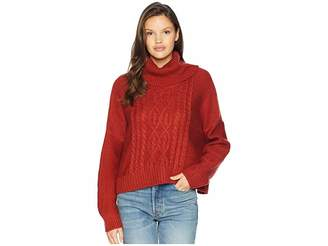 BB Dakota Say Anything Raglan Sleeve Cable Knit Sweater