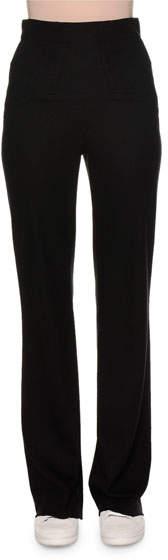 Callens High-Waist Jersey Wool Pants