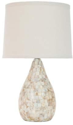Safavieh Lauralie Ivory Capiz Shell Lamp