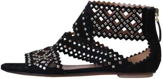 Alaia Black Suede Sandals