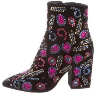 Loeffler Randall Beaded Ankle Boots