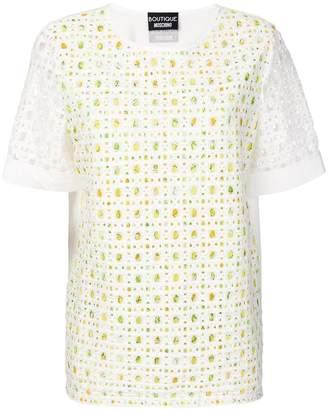 Moschino perforated T-shirt