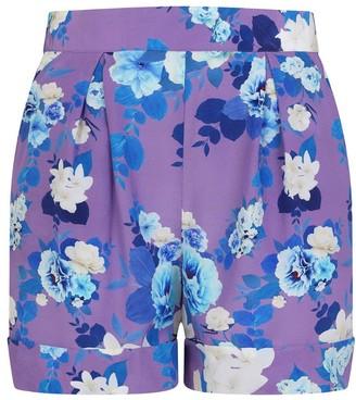 Sophie Cameron Davies Purple Blossom Silk Tailored Short