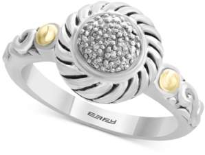 Effy Balissima by Diamond Accent Two-Tone Ring in Sterling Silver & 18k Gold