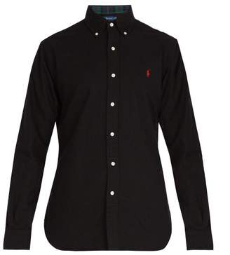 Polo Ralph Lauren Logo Embroidered Cotton Oxford Shirt - Mens - Black