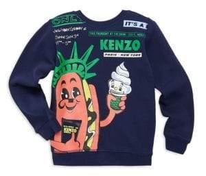Kenzo Toddler's, Little Boy's& Boy's Hot Dog Liberty Tower Cotton Sweatshirt