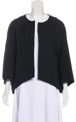 Giambattista Valli Collarless Silk-Blend Jacket