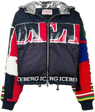 Iceberg patchwork detail puffer jacket