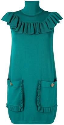 Elisabetta Franchi roll neck mini sweater dress