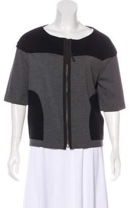 Tory Burch Short Sleeve Zip-Up Jacket