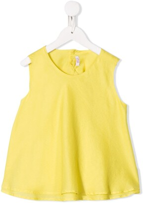 Il Gufo tiered sleeveless blouse