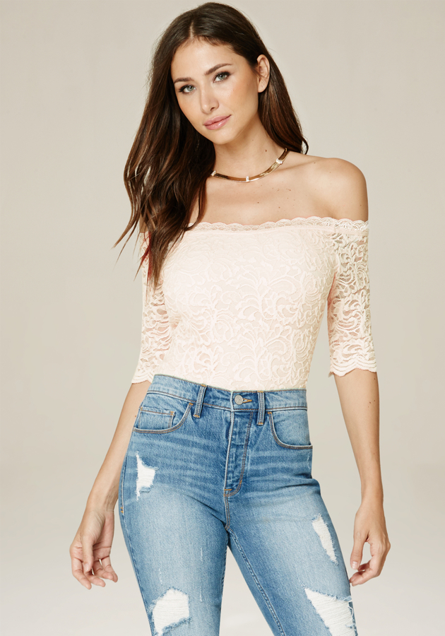 Lace Off Shoulder Bodysuit