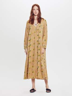 Natalie Martin Fiore Maxi Rayon Dress - Vintage Flowers Gold