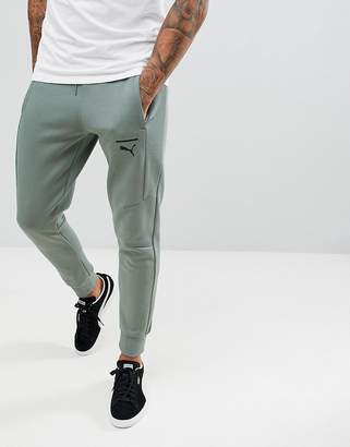 Puma Pace Skinny Joggers In Green 57680923