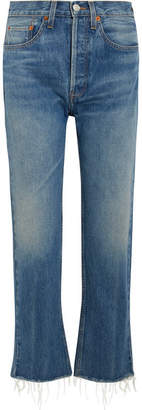 RE/DONE Originals High-rise Stove Pipe Straight-leg Jeans - Blue