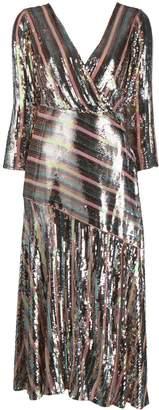 Rixo Tyra sequinned midi dress