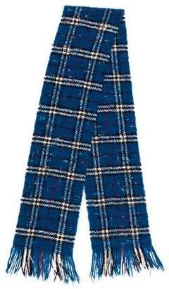 Burberry Plaid Knit Scarf