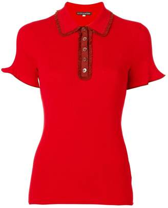 ALEXACHUNG Alexa Chung frill polo shirt