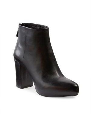 pradaPrada Leather Block-Heel Booties