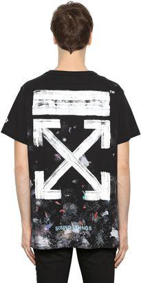 Galaxy Arrows Cotton Jersey T-Shirt $323 thestylecure.com